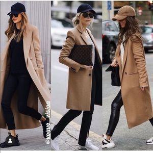 NWT ZARA Wool Coat Light Camel S Blogger's Fav